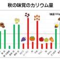 秋の味覚のカリウム量