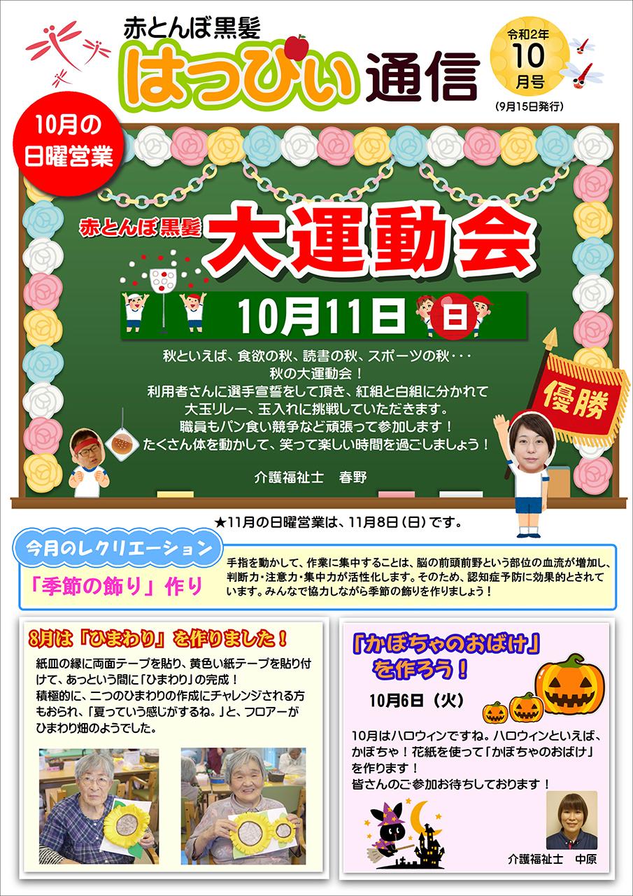 赤とんぼ黒髪 はっぴぃ通信10月号 表