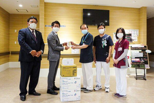 医療用手袋の寄贈