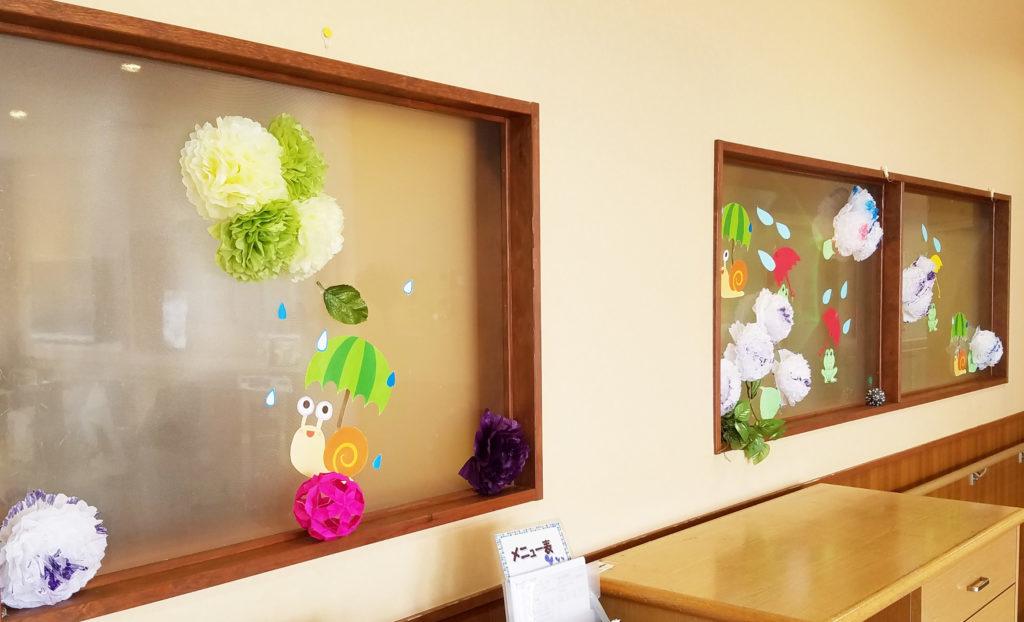 紫陽花の飾り付け-2