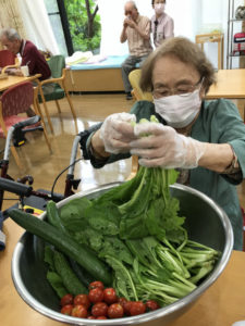 小松菜のベーコンソテー1