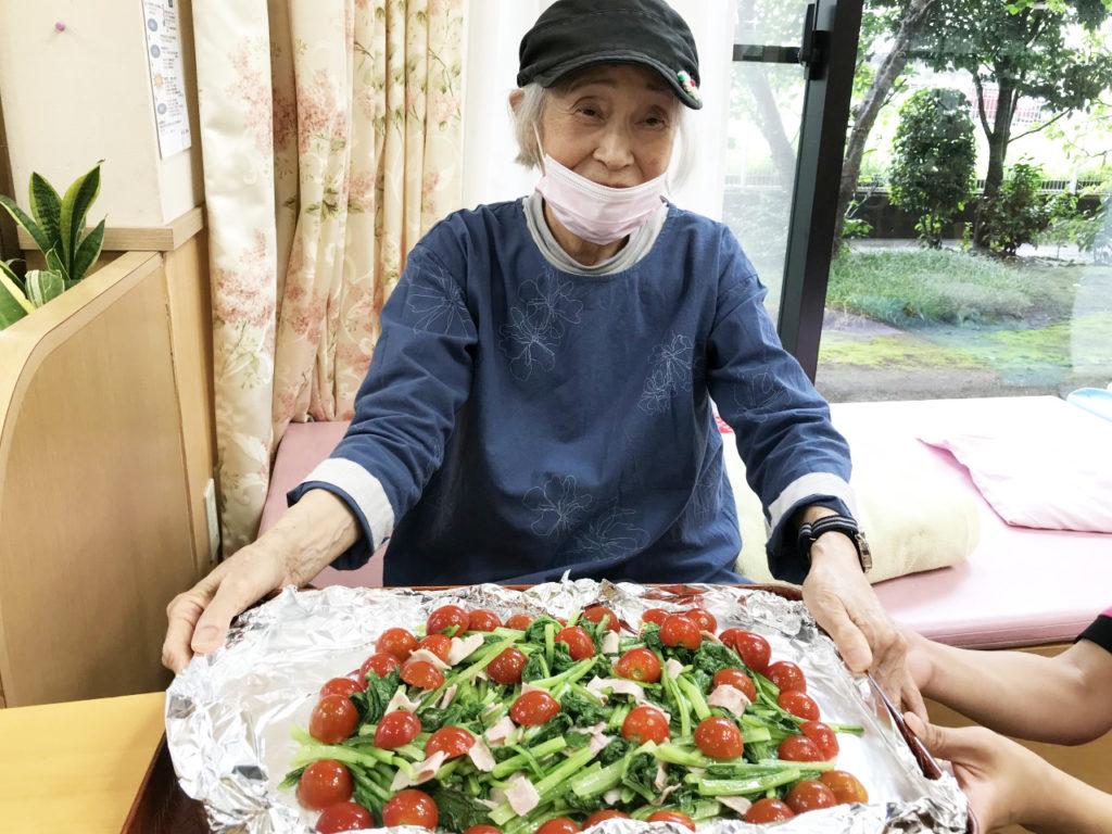 小松菜のベーコンソテー7