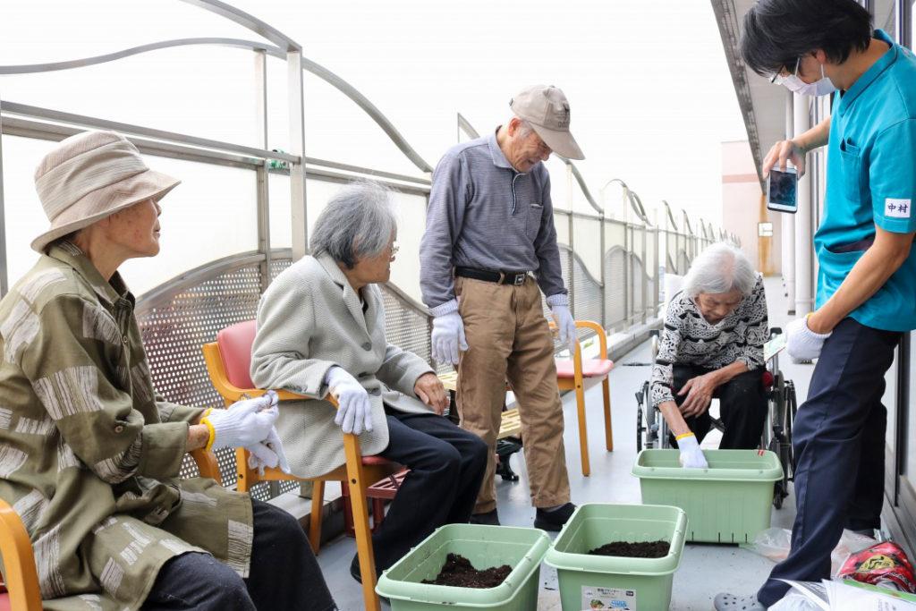 入所科4階家庭菜園2