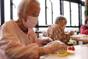 77歳のバースデーケーキ作り1