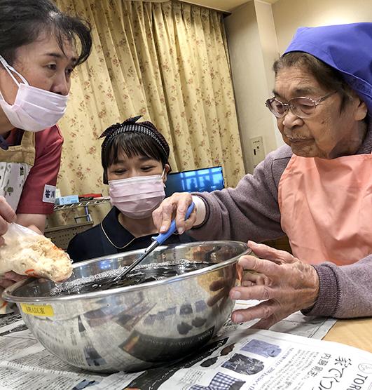 入所科4階6月料理教室 赤紫蘇4