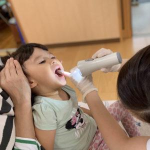 赤とんぼ保育園で歯科健診1