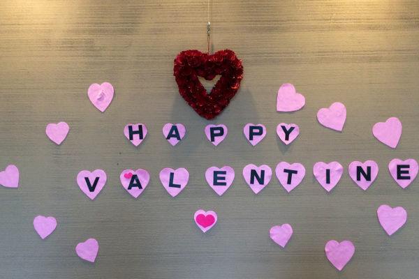 透析患者さんへバレンタインイベント ディスプレイ