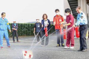 赤とんぼ・ながみねCL合同 秋季消防訓練3