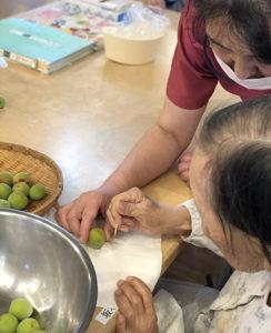 入所科4階6月料理教室 梅3