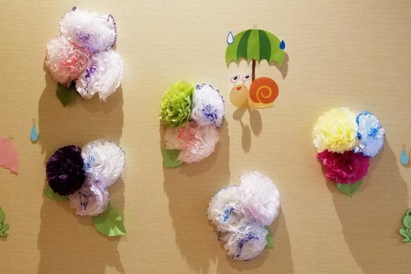 紫陽花の飾り付け-1