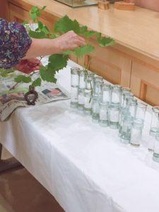 試験管で作った花瓶